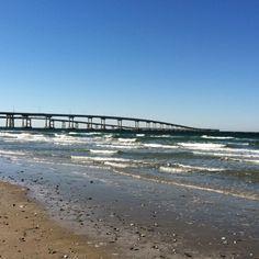 Chesapeake Bay Bridge Tunnel from Fishermen's Island. #ESVA