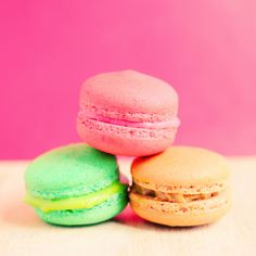 Sweet colorful macaroons with retro filter effect by Nuchylee