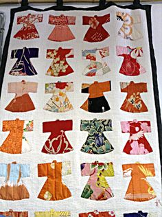 Reiko Inaba Appliqué: Mostly blue and white, but sometimes glorious reds and oranges