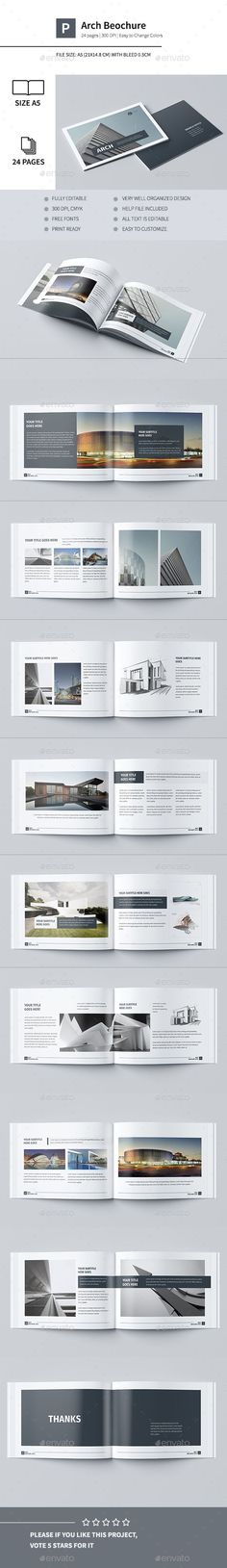 Modern Architecture Brochure 24 Pages A5 Template InDesign INDD. Download here: http://graphicriver.net/item/modern-architecture-brochure-24-pages-a5-/14633270?ref=ksioks