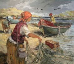 Aviva Maree. Lien stop nette Paintings I Love, Art Paintings, South African Art, Fishing Boats, Artist At Work, 1, Sculpture, Acrylics, Veronica