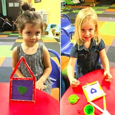 Freida & Gabby making their Mother's Day crafts today in #KidsClub at our Westfield Palm Desert gym! Thank you Ana Martinez!!! #MothersDay #MothersDay2016 #kidsfun #kids #WorldGym