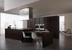 contemporary kitchen island with table