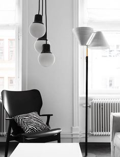 A black and white apartment in Stockholm - Design Hunter - UK design & lifestyle blog
