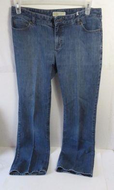 Michael Kors Women's Denim Jeans Blue Size 10  #MichaelKors #Flare