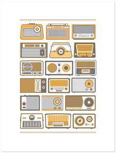 Retro Radios by Fifty Five Hi's