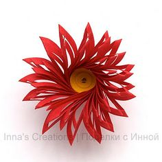 Paper-sculpted flowers