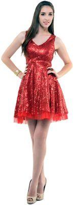 Red Sequin Starlet Short Cocktail Dress - S-L   Uniquevintage.com