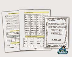 Cuaderno de vacaciones para repasar Lengua y Matemáticas del curso de 2º de Primaria en periodo estival. También puede servir como opci... Notebook, Bullet Journal, Lettering, Maths, Ideas, Personal Pronoun, Educational Activities, Drawing Letters, The Notebook