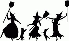 Silhouette Online Store - View Design #50025: dancing witch silhouettes