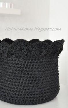 crochet basket by rae