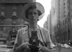 This photo provided by the Estate of Vivian Maier and John Maloof Collection shows Maier in a self-portrait as she looks into a storefront wearing a hat in New York. (Photo by Vivian Maier/Estate of Vivian Maier and John Maloof Collection via AP Photo) Self Portrait Photography, Street Photography, Art Photography, Photography Composition, Photography Exhibition, Photography Gallery, Artistic Photography, Amazing Photography, Vivian Maier Street Photographer