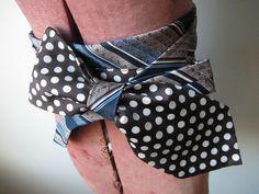 Repurposed Vintage Neckties Belt / Womens Upcycled Clothing / Wide Waist Belt / Obi / 1970s Vintage Neckties / Prepster / Urban Chic
