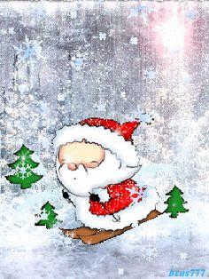 Дедушка мороз - анимация на телефон №1098380