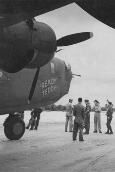 "B-24D Liberator ""Ready Teddy"" of the 307th Bomb Group 371th BS Nose Art"