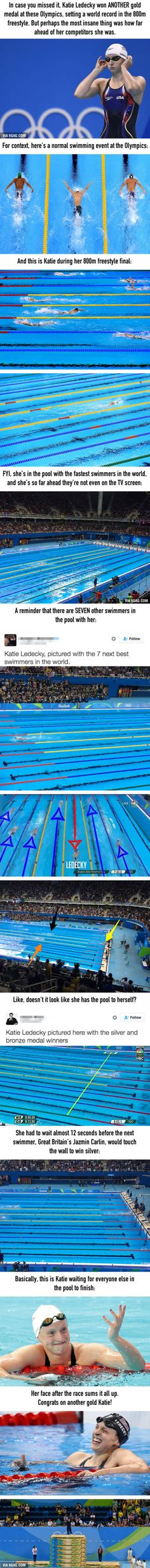 This Is How Much Faster Katie Ledecky Is Than Everyone Else In The Pool