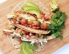 """Baja Style"" Fish Tacos / @DJ Foodie / DJFoodie.com Visit us at: https://www.facebook.com/LowCarbingAmongFriends"