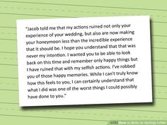 Write an Apology Letter Relationships Qoutes and Recovery