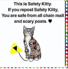 The scares are just pictures with words stop re pinning so the chain ends