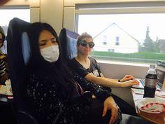 Shh, Babymetal - Kami Band Takayoshi Ohmura is sleeping... Don't make noise. shh.. Photo via Distortion To Go...