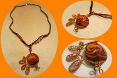 Hand made polymer clay necklace   https://www.facebook.com/Anna-Donna-%C3%A9kszer-231340573715505/