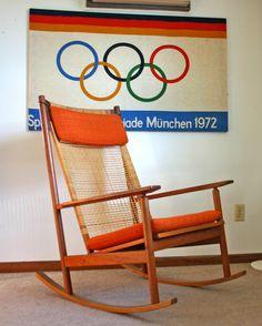 vintage mid century Danish modern Hans Olsen Rocking chair eames | eBay