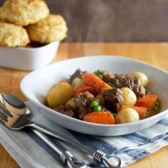 Hearty beef stew for those cold winter days.