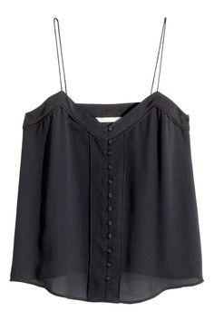 Top de alças em chiffon | H&M