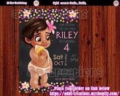 Baby Moana Invitations, Customized Item,  Baby Moana Birthday Party Ideas, Invitaciones Baby Moana, Baby Moana Birthday Invitations, Baby Moana Party Invitations