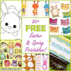 50+ FREE Easter & Spring Printables!