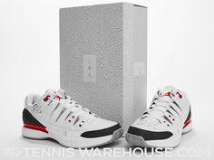 404a486e3025 Roger Federer Autographed Jordan AJ3 Shoe - Pair 10.5