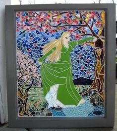 אישה בגן