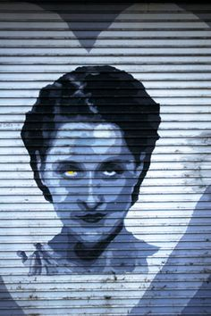 Someone made Norma Shearer rather sinister once upon a time. Amazing what a little dab of yellow paint will do.  Bizarre Los Angeles.