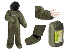 This innovative sleeping bag has all the comfort you need with none of the hassle of an ordinary sleeping bag. With zip fastening hands and feet, this all-in- one suit is ideal for fishing, festivals or any outdoor event