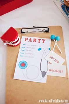 Convites personalizados médicos