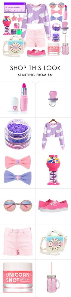 """""""Home in Your Heart"""" by drhumanguy ❤ liked on Polyvore featuring Sugarpill, Medusa's Makeup, Chicnova Fashion, Vans, Boohoo, Betsey Johnson, FCTRY, cute, pastel and kidcore"""
