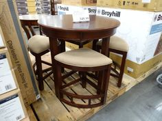 Broyhill Lenoir 5-Piece Counter Height Dining Set Costco