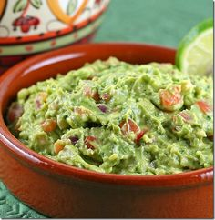 BEST homemade guacamole! We went to a Mexican restaurant last night in Irmo where they make fresh guacamole right at your table. This was the exact recipe they used and it was fabulous!!!