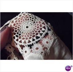 "Vintage Victorian Estate Lace Doily 10x14"" Fine Linen Armenian Bebilla Lace GP on eBid United States"