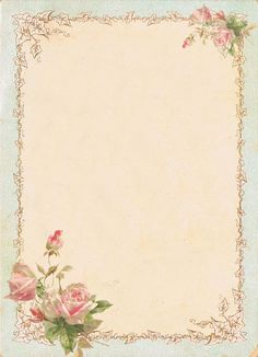 Background frame roses Flower Background Wallpaper, Flower Backgrounds, Paper Background, Decoupage Vintage, Decoupage Paper, Vintage Paper, Molduras Vintage, Borders For Paper, Note Paper