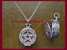 Celtic Pentagram Locket Necklace