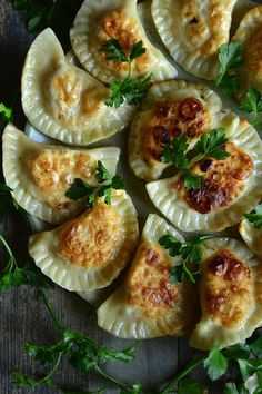 Food L, Good Food, Polish Recipes, Polish Food, Calzone, Ravioli, Camembert Cheese, Side Dishes, Pierogi