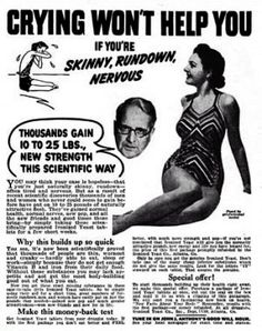 Vintage Weight Gain Ads