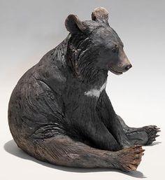 Clay Bear Sculptures Nick Mackman