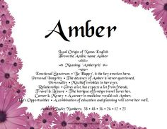 Meaning Of Names #Amber