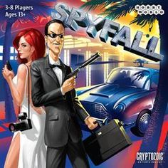 Spyfall, Cryptozoic Entertainment, 2015 (image provided by the publisher) Games Box, Fun Games, Games To Play, Card Games, Pokemon Buddy, Board Game Box, Family Party Games, Team Building Games, Moshi Monsters