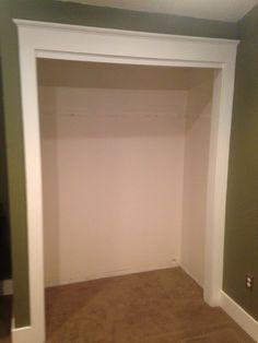 Closet remodel before