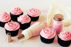 Imagen de cupcake, pink, and food