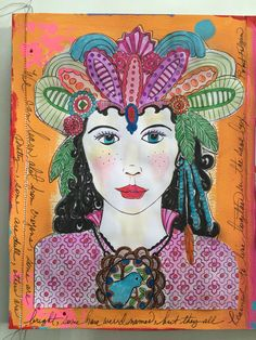Another coloring page for journal. By Kim Collister