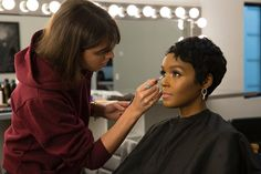 Here's a shot I took of Janelle Monae getting her Covergirl makeover done for the new Vitalist ad. I can't help but share this, i'm blessed to be able to work on big name projects like this.  @janellemonae Congratulations on being a face for @covergirl your beauty and grace are unmatched! .  #makeup #commercialphotographer #setlife #JanelleMonae #WOC #MOC #covergirl #bts